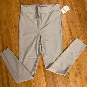 NWT Shiny Silver Leggings